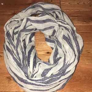 Blue/White Infinity Scarf